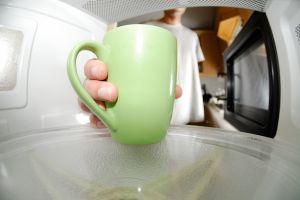 mug in a microwave